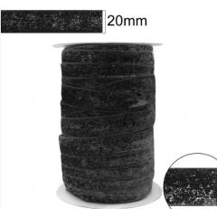 Fita Glitter Preta 20 mm 10 Metros  -