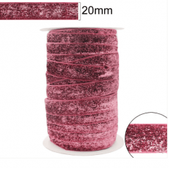 Fita Glitter Rosa  20 mm 10 Metros