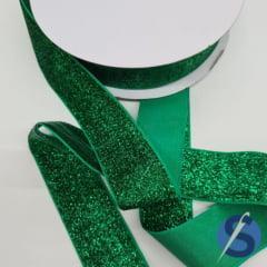 Fita Glitter Verde 38 mm 10 Metros