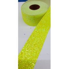 Fita Lonita Flocada Amarelo Cítrico 5 Metros