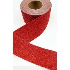 Fita Lonita Glitter Vermelha 5 Metros