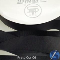 Fita Gorgurão Sanding Preto 06 38 mm Metro