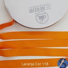 Fita Gorgurão Sanding  Laranja 118 22 mm