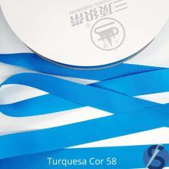 Fita Gorgurão Sanding Turquesa 58 22 mm