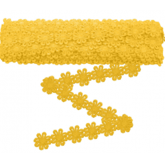 Renda Guipir flor Amarelo