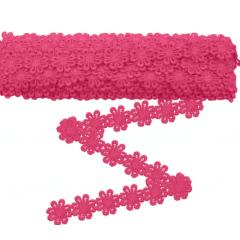 Renda Guipir flor Rosa Pink