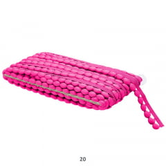 Pompom Grelot Pink 17mm Peça 10 Metros