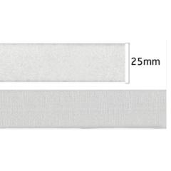 Velcro Adesivo Branco  25 mm Peça Com 25 metros