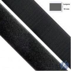 Velcro Preto 16mm Peça 25 Mts