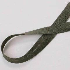 Viés de Algodão Verde Musgo 09 24mm