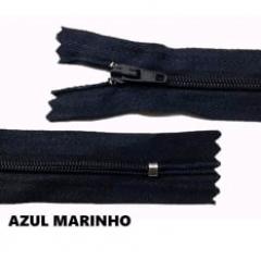 Zíper Comum Azul Marinho Nº3 Fixo 25Cm