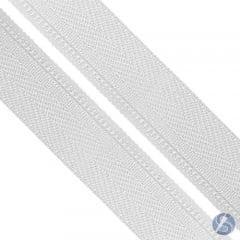 Zíper Nylon Nº5  Branco em Metro