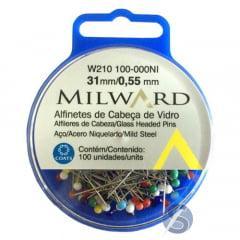 Alfinetes Cabeça de Vidro 31mm