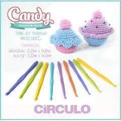 Kit Círculo Candy Agulhas de Crochê