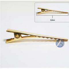 Bico de Pato Dourado Metal Dúzia  3 cm