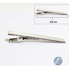 Bico de Pato Prata Metal Dúzia 4cm