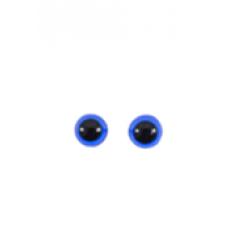 Olho Para Amigurumi Azul 8 mm com Trava 10 Pares