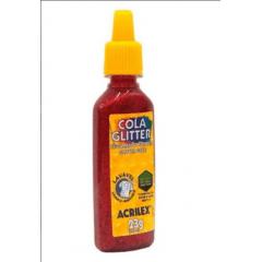 Cola Glitter Acrilex 205 Vermelho 23gr