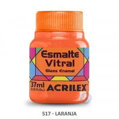 Esmalte Vitral 517 Laranja Acrilex 37ml