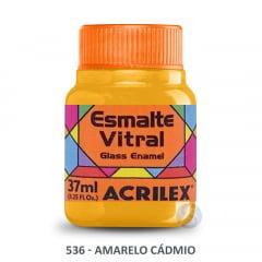 Esmalte Vitral 536 Amarelo Cádmio Acrilex 37ml