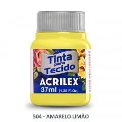 Tinta para Tecido Acrilex Fosca 504 Amarelo Limão 37ml