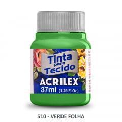 Tinta para Tecido Acrilex Fosca 510 Verde Folha 37ml