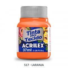 Tinta para Tecido Acrilex Fosca 517 Laranja 37ml