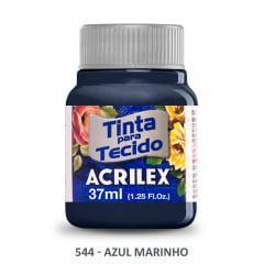 Tinta para Tecido Acrilex Fosca 544 Azul Marinho 37ml