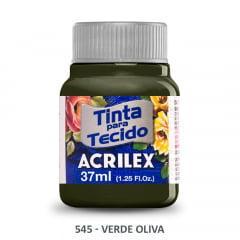 Tinta para Tecido Acrilex Fosca 545 Verde Oliva 37ml