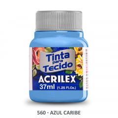 Tinta para Tecido Acrilex Fosca 560 Azul Caribe 37ml