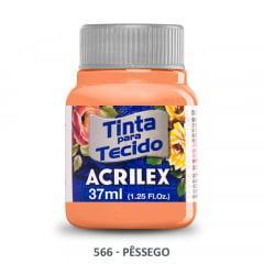 Tinta para Tecido Acrilex Fosca 566 Pessêgo 37ml