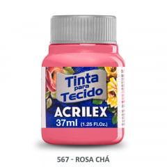 Tinta para Tecido Acrilex Fosca 567 Rosa Chá 37ml