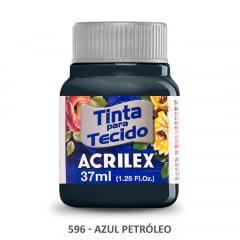 Tinta para Tecido Acrilex Fosca 596 Azul Petróleo 37ml