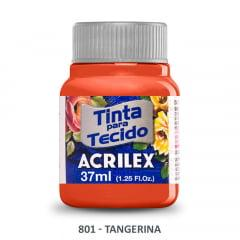 Tinta para Tecido Acrilex Fosca 801 Tangerina 37ml