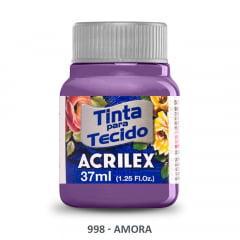 Tinta para Tecido Acrilex Fosca 998 Amora 37ml