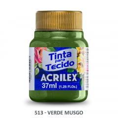 Tinta Para Tecido Metálica 513 Verde Musgo 37 ml