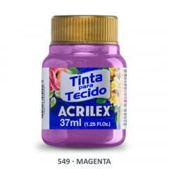 Tinta Para Tecido Metálica 549 Magenta  37 ml