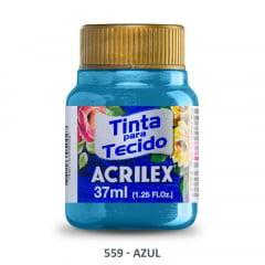 Tinta Para Tecido Metálica 559 Azul 37 ml