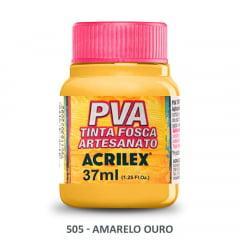 Tinta Pva Fosca para Artesanato 505 Amarelo Ouro 37 ml