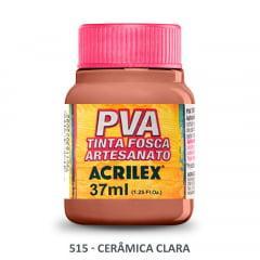 Tinta Pva Fosca para Artesanato 515 Cerâmica Clara 37 ml