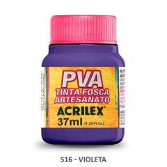 Tinta Pva Fosca para Artesanato 516 Violeta 37 ml