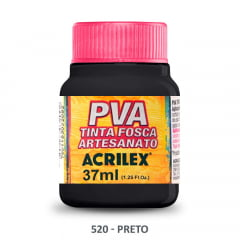 Tinta Pva Fosca para Artesanato 520 Preto 37 ml