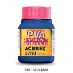 Tinta Pva Fosca para Artesanato 535 Azul Mar 37 ml