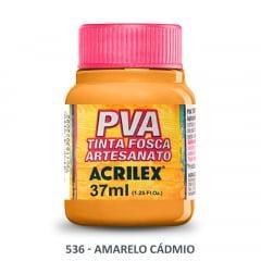 Tinta Pva Fosca para Artesanato 536 Amarelo Cádmio 37 ml