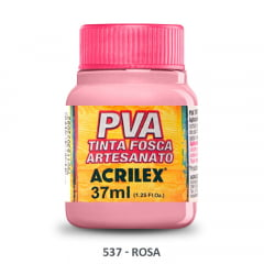 Tinta Pva Fosca para Artesanato 537 Rosa 37 ml