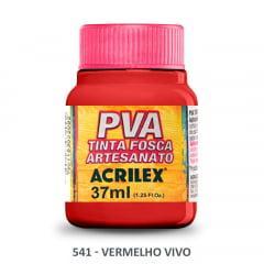 Tinta Pva Fosca para Artesanato 541 Vermelho Vivo 37 ml