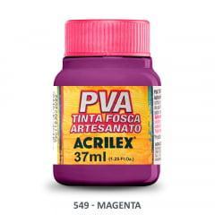 Tinta Pva Fosca para Artesanato 549 Magenta 37 ml
