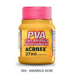 Tinta Pva Fosca para Artesanato 564 Amarelo Ocre 37 ml