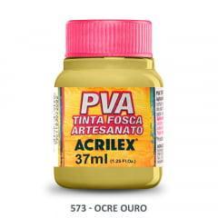 Tinta Pva Fosca para Artesanato 573 Ocre Ouro 37 ml