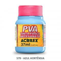 Tinta Pva Fosca para Artesanato 579 Azul Hortênsia 37 ml